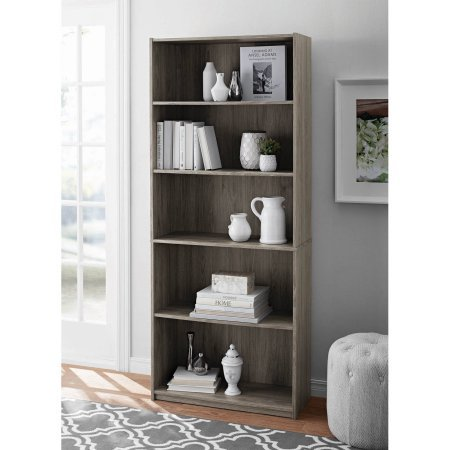 light grey walmart book shelf