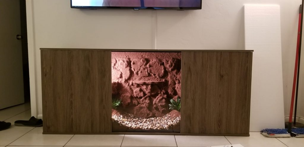finished diy terrarium entertainment center