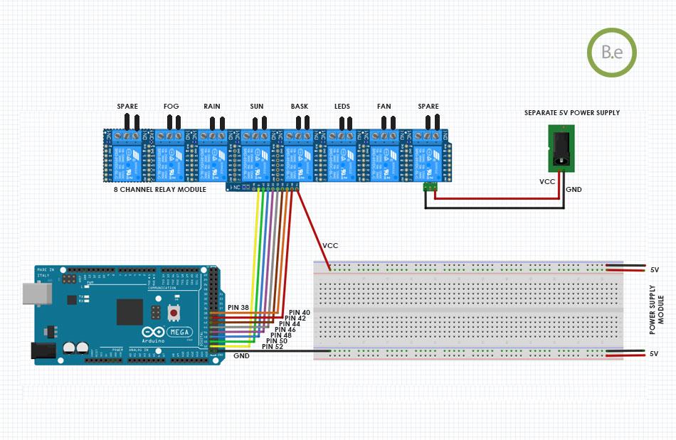 paludarium arduino relays