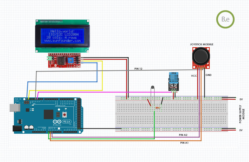 using joystick to control arduino