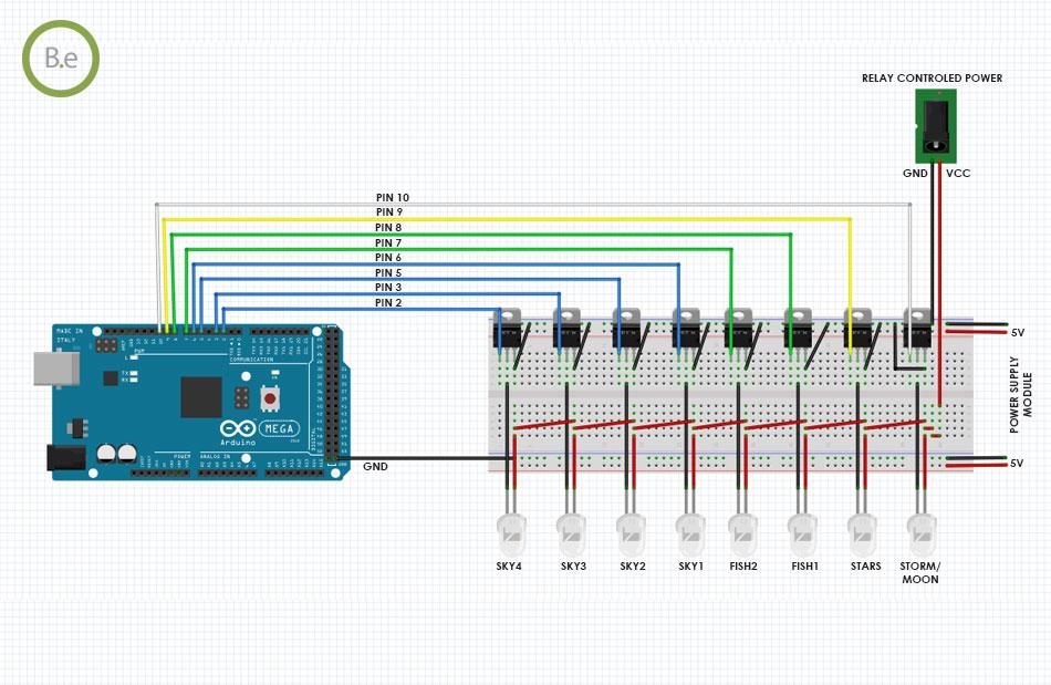 paludarium lights arduino settings