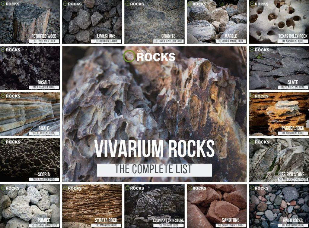 Complete list of aquarium & terrarium safe rocks