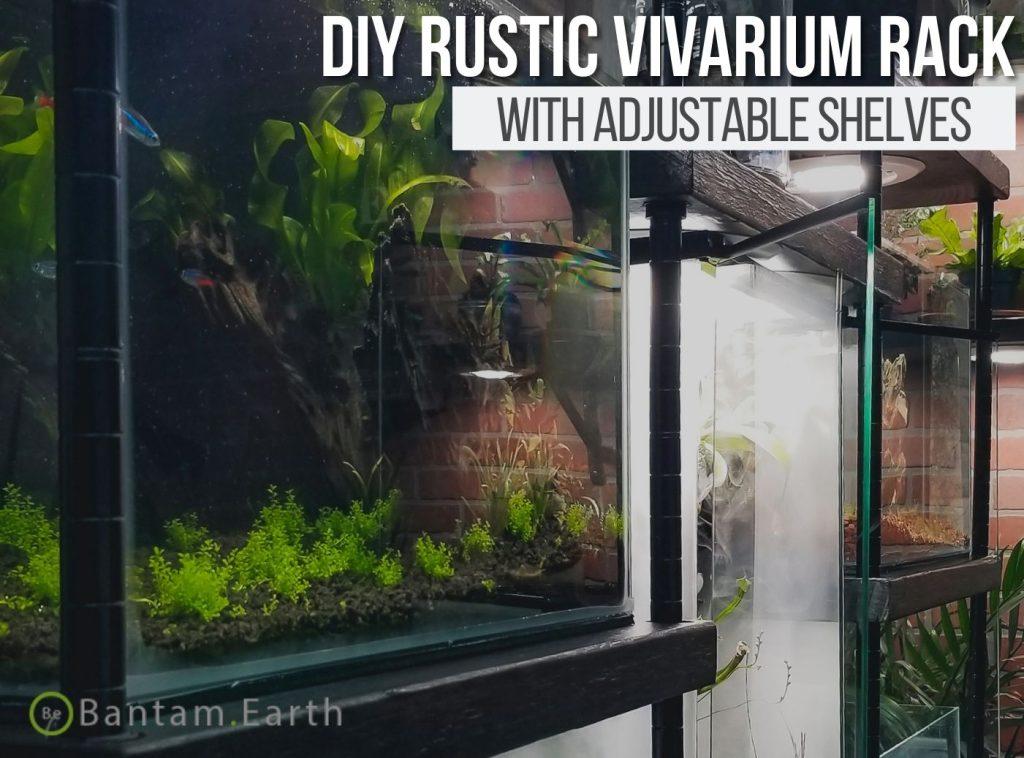 DIY Vivarium Rack For Terrariums and Aquariums