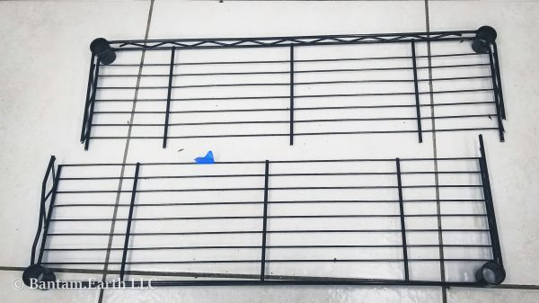 Cutting steel racks for DIY vivarium rack