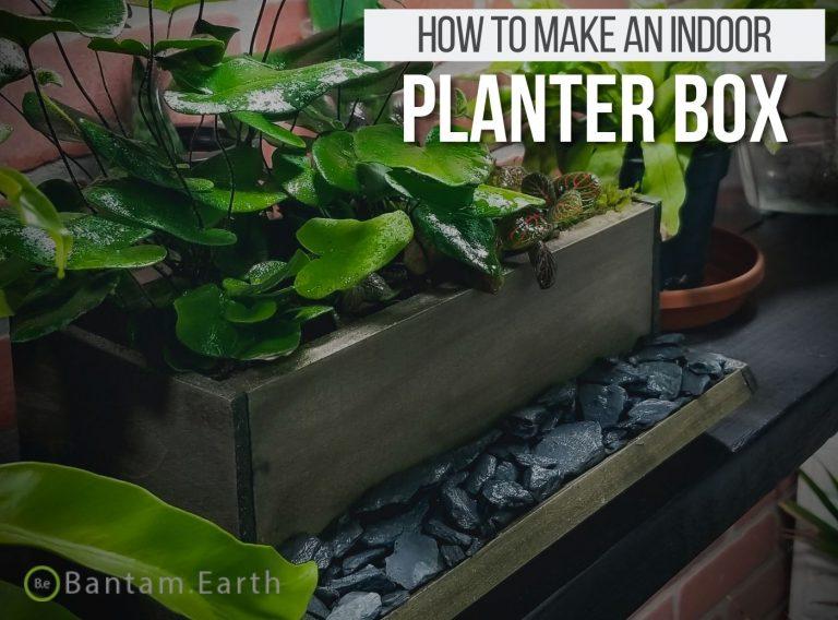 Wall Mounted Indoor Planter Box Tutorial
