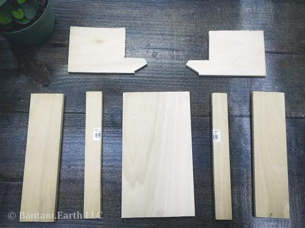 wood panels for planter box