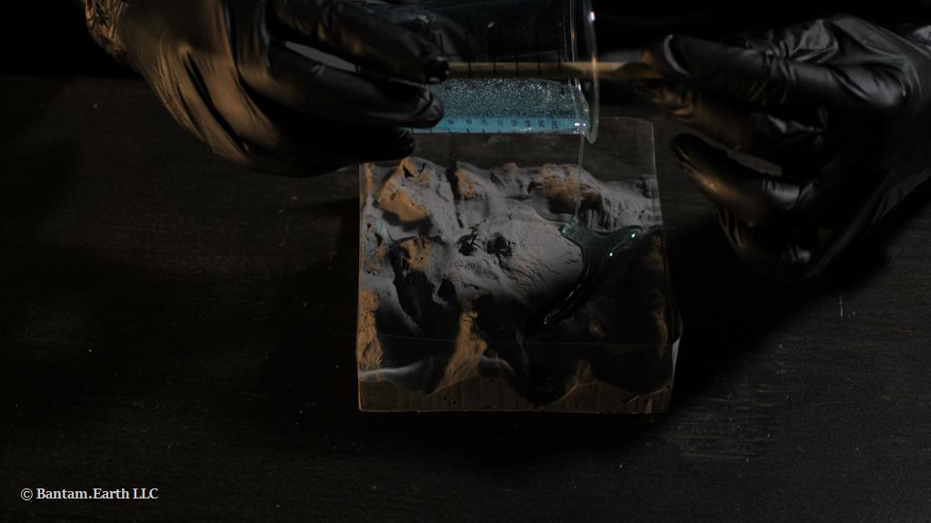 Pouring Resin On Terrarium Decor
